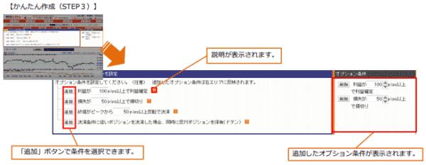 4.オプション条件を設定する