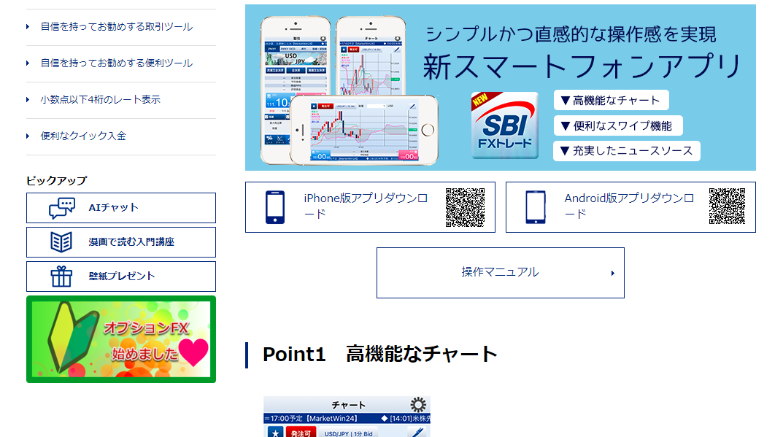 2.SBI FXトレード:チャートアプリ「SBI FXトレード」