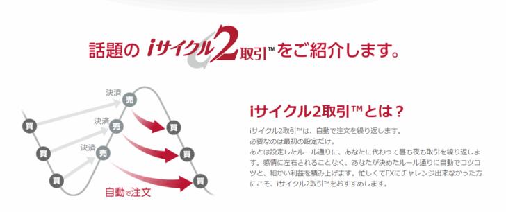 「サイクル2取引」「iサイクル2取引」で自動売買